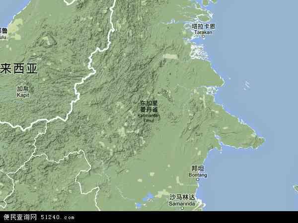 东加里曼丹地图 - 东加里曼丹卫星地图