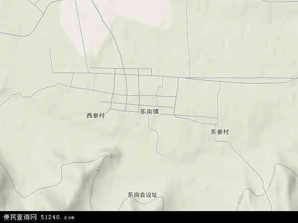 中国吉林省白山市抚松县东岗镇地图(卫星地图)