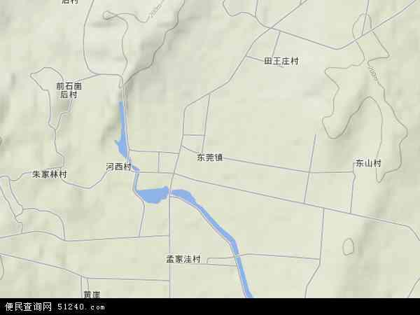 中国山东省日照市莒县东莞镇地图(卫星地图)