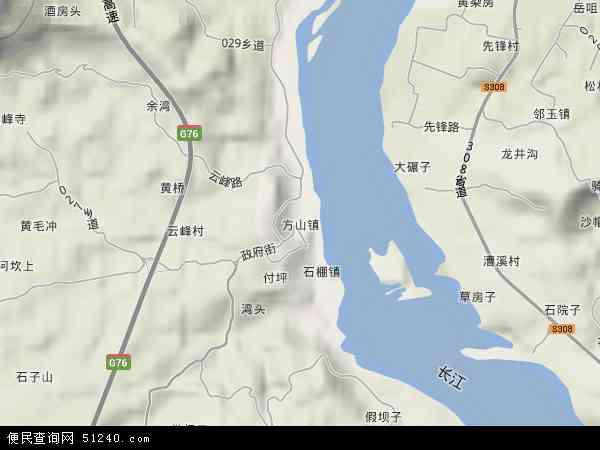 方山镇地图 - 方山镇卫星地图图片