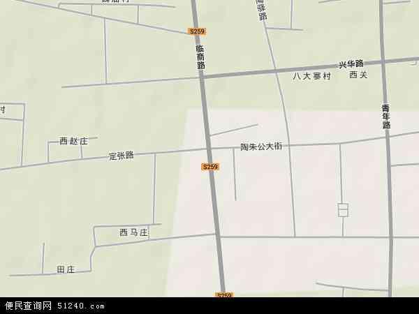 中国山东省菏泽市定陶县仿山镇地图(卫星地图)