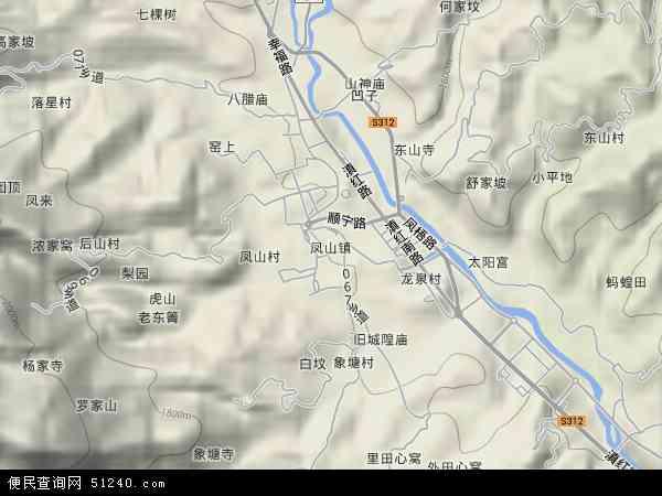 中国云南省临沧市凤庆县凤山镇地图(卫星地图)