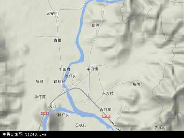 福建省漳州市南靖县丰田镇地图(卫星地图)