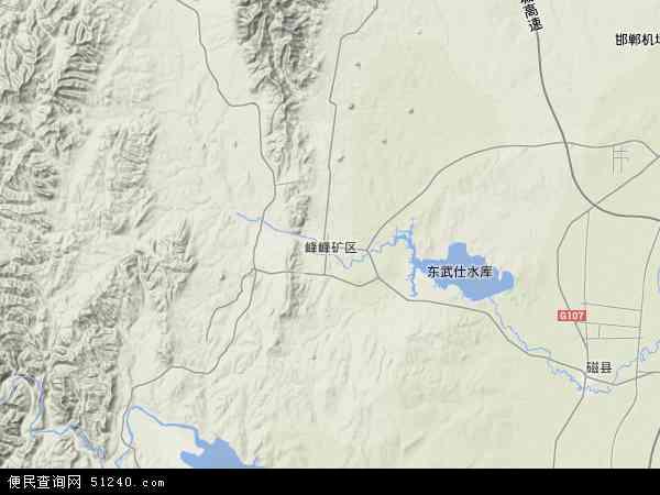 中国河北省邯郸市峰峰矿区地图(卫星地图)