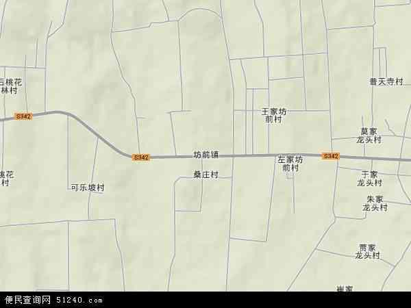 中国山东省临沂市莒南县坊前镇地图(卫星地图)