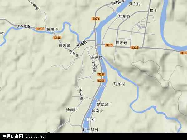 中国江西省抚州市宜黄县凤冈镇地图(卫星地图)