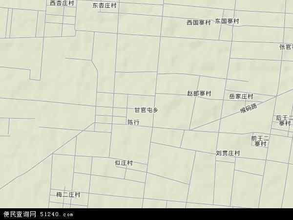 中国山东省聊城市冠县甘官屯乡地图(卫星地图)图片