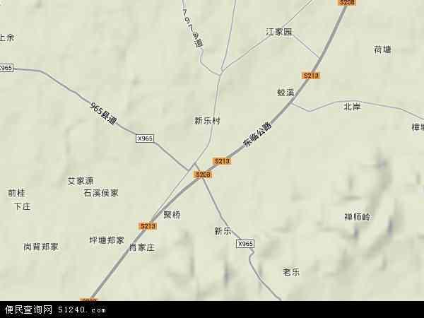 中国江西省抚州市东乡县岗上积镇地图(卫星地图)