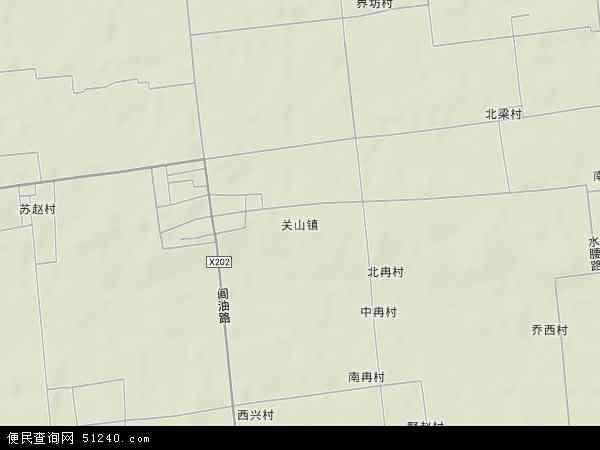 中国陕西省西安市阎良区关山镇地图(卫星地图)