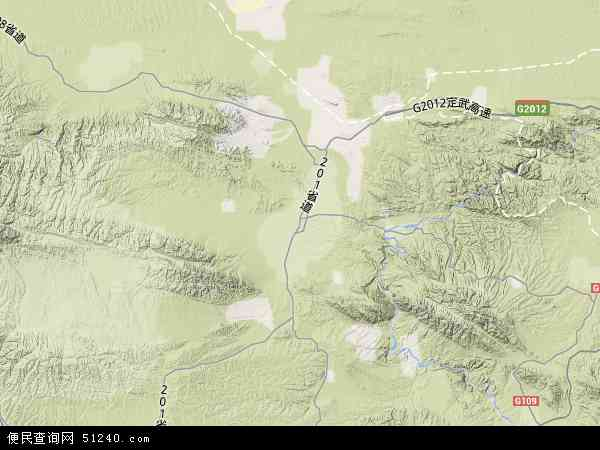 中国甘肃省白银市景泰县红水镇地图(卫星地图)