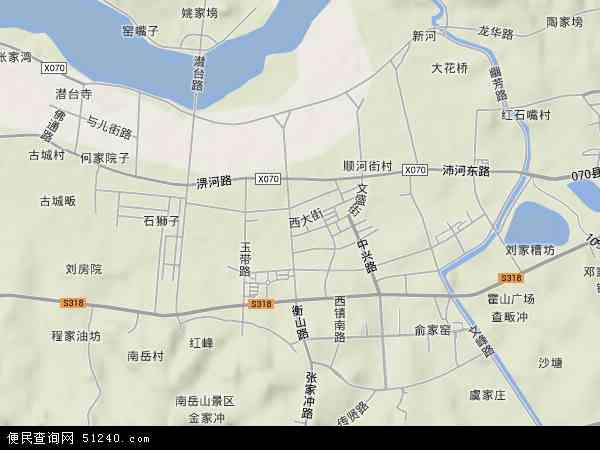 中国安徽省六安市霍山县衡山镇地图(卫星地图)