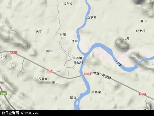 怀远镇高清卫星地图 怀远镇2017年卫星地图 中国广西壮族自治区河