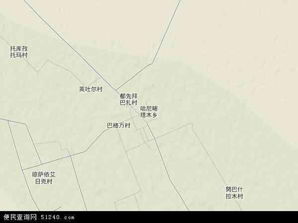 哈尼喀塔木乡地图 - 哈尼喀塔木乡卫星地图