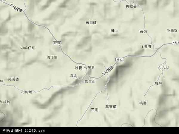 福建省漳州市云霄县平农场地图(卫星地图)