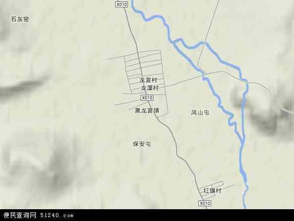 黑龙宫镇地图 - 黑龙宫镇卫星地图
