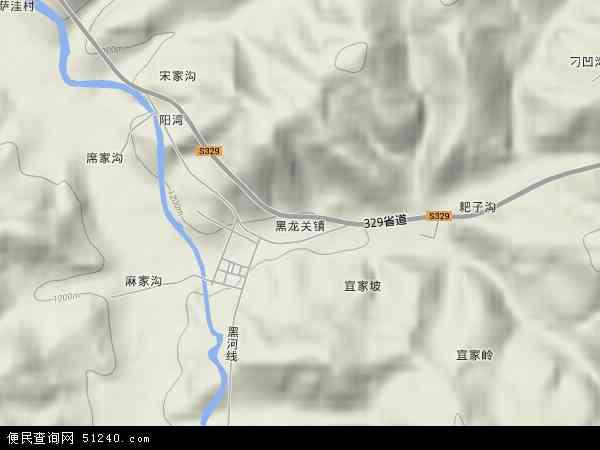 黑龙关镇地图 - 黑龙关镇卫星地图