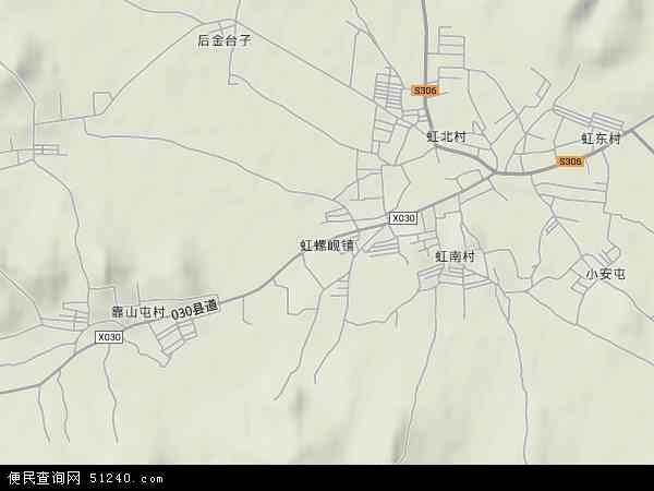 中国辽宁省葫芦岛市南票区虹螺岘镇地图(卫星地图)