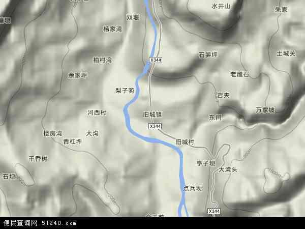 旧城镇高清卫星地图 旧城镇2017年卫星地图 中国贵州省遵义市道真