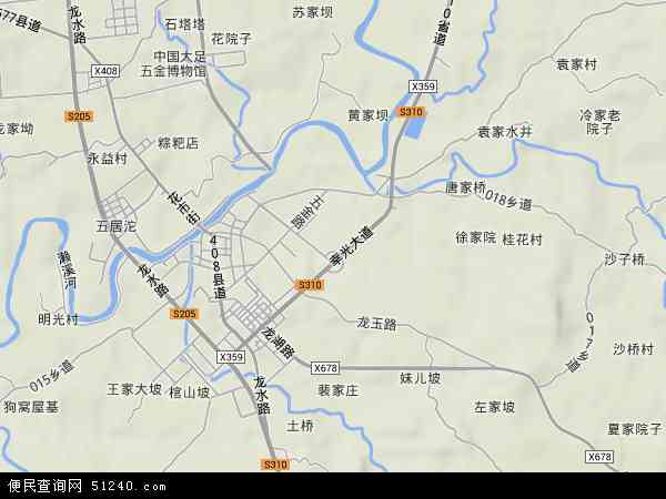 中国重庆市大足区龙水镇地图(卫星地图)
