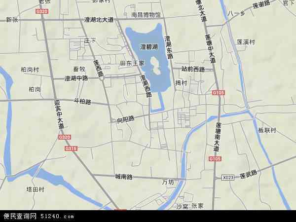 中国江西省南昌市南昌县莲塘镇地图(卫星地图)