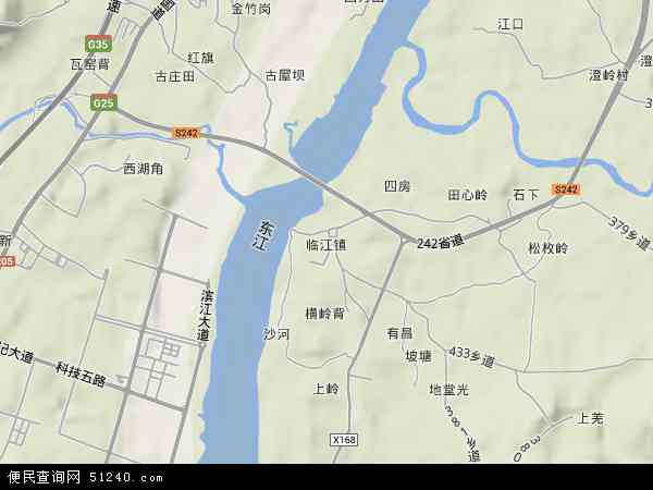 中国广东省河源市紫金县临江镇地图(卫星地图)