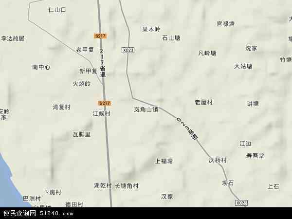 岚角山镇地图 - 岚角山镇卫星地图