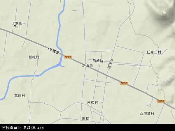 中国山东省日照市莒县龙山镇地图(卫星地图)