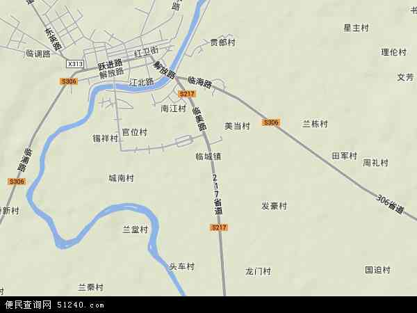 中国海南省省直辖县级行政区划临高县临城镇地图