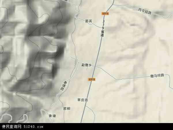 中国云南省临沧市耿马傣族佤族自治县勐撒农场地图(卫星地图)