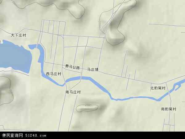 中国山东省临沂市费县马庄镇地图(卫星地图)