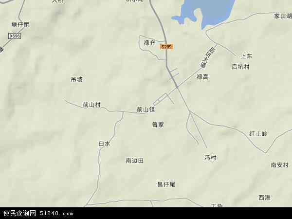 中国广东省湛江市徐闻县前山镇地图(卫星地图)