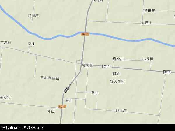 中国河南省周口市郸城县钱店镇地图(卫星地图)
