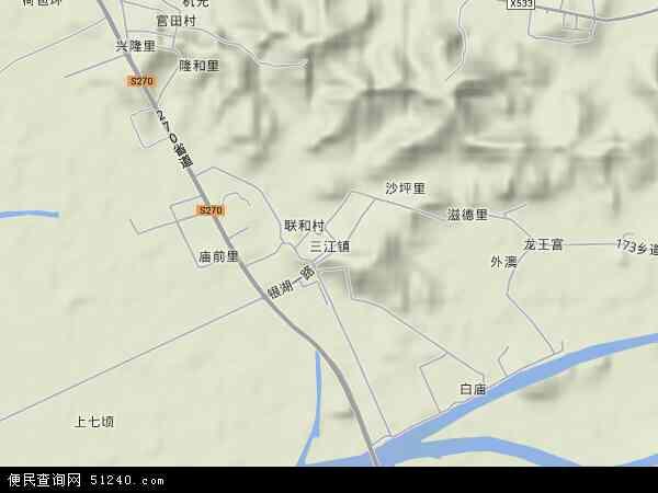 三江镇高清卫星地图 三江镇2017年卫星地图 中国广东省江门市新会图片