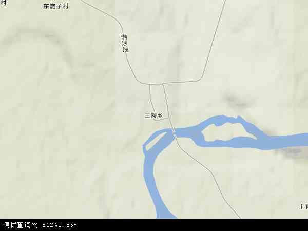 中国黑龙江省牡丹江市宁安市三陵乡地图(卫星地图)