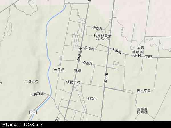 中国新疆维吾尔自治区吐鲁番地区鄯善县鄯善镇地图(卫星地图)