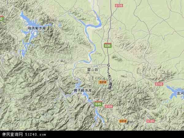中国安徽省六安市霍山县上士市镇地图(卫星地图)