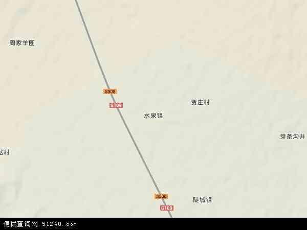 水泉镇地图 - 水泉镇卫星地图