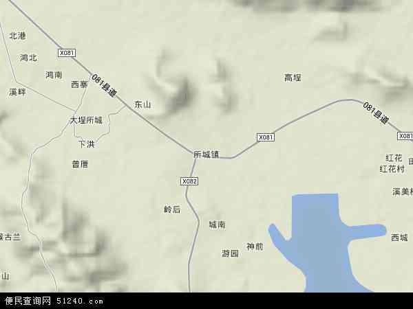中国广东省潮州市饶平县所城镇地图(卫星地图)