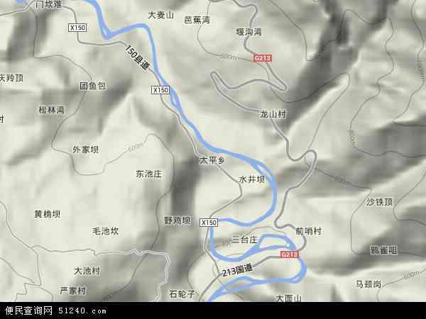 中国四川省宜宾市屏山县太平乡地图(卫星地图)