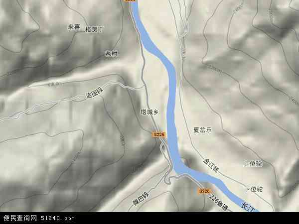 塔城乡地图 - 塔城乡卫星地图