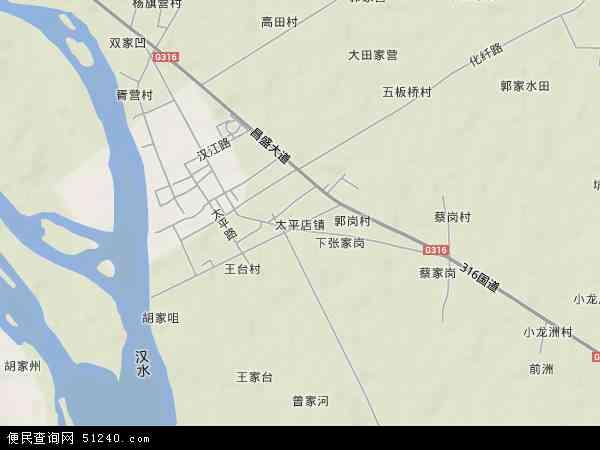 中国湖北省襄阳市樊城区太平店镇地图(卫星地图)图片