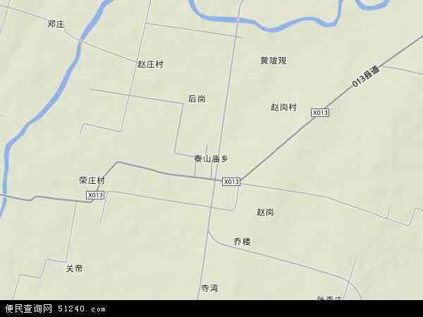 泰山庙镇地形地图