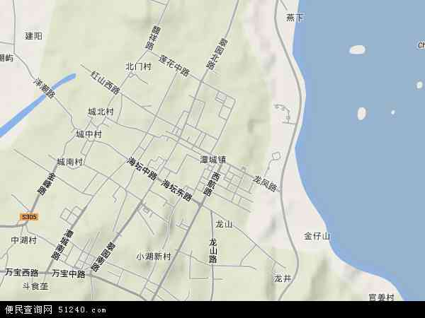 中国福建省福州市平潭县潭城镇地图(卫星地图)