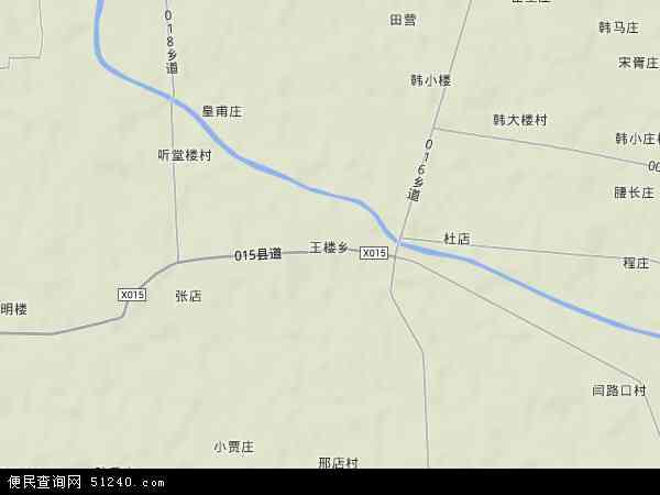 中国河南省商丘市梁园区王楼乡地图(卫星地图)图片