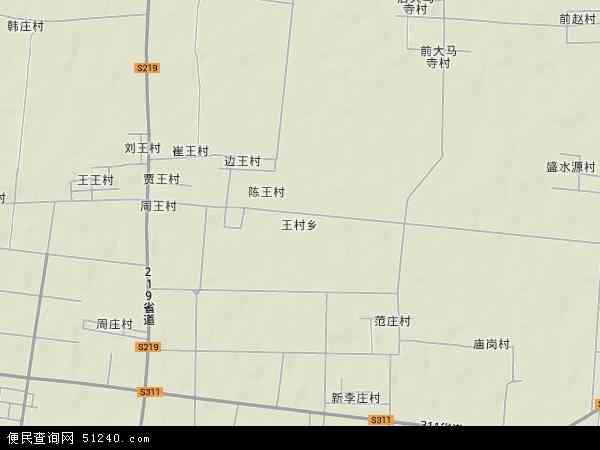 中国河南省新乡市封丘县王村乡地图(卫星地图)