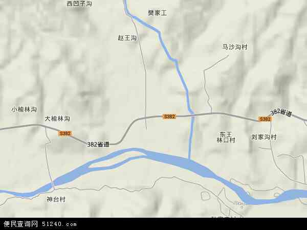 中国河北省保定市阜平县王林口乡地图(卫星地图)图片