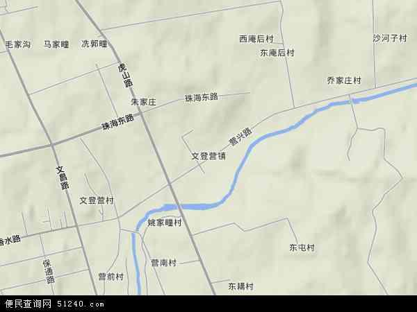 中国山东省威海市文登市文登营镇地图(卫星地图)