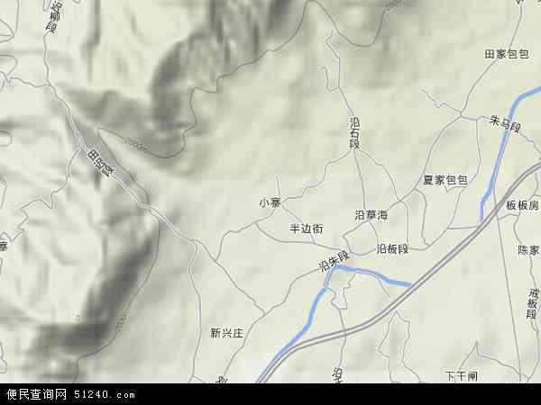 中国云南省昭通市鲁甸县小寨镇地图(卫星地图)