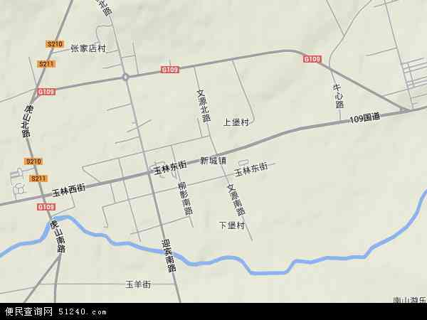 中国山西省朔州市右玉县新城镇地图(卫星地图)