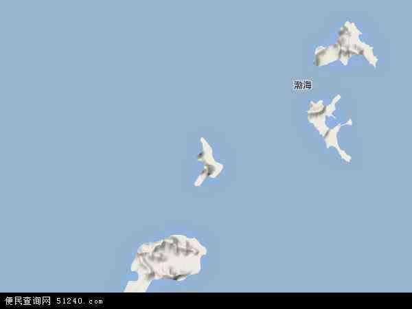 中国山东省烟台市长岛县小钦岛乡地图(卫星地图)